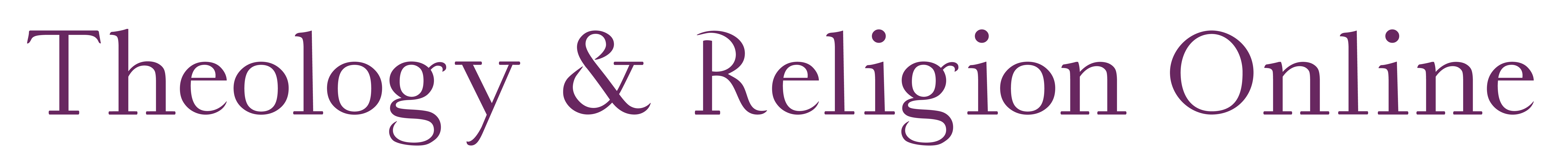 Theology and Religion Online Logo